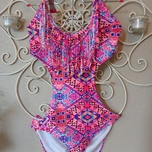 Victoria Secret One Piece Fringe Swimsuit